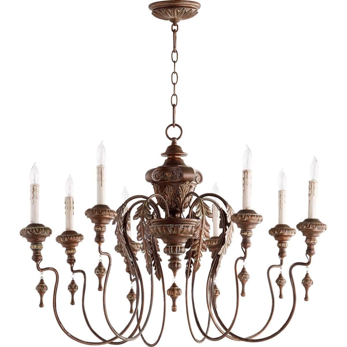 Salento 8 Light Vintage Copper Traditional Chandelier