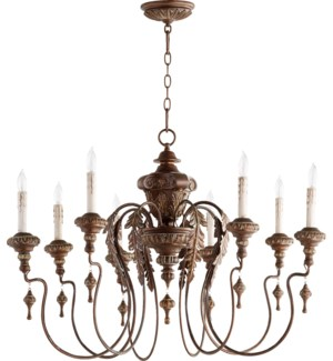 Salento 8 Light Vintage Copper Traditional Chandelier