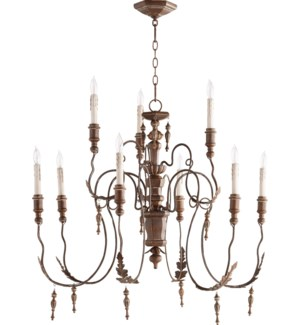 Salento 9 Light Vintage Copper Traditional Chandelier