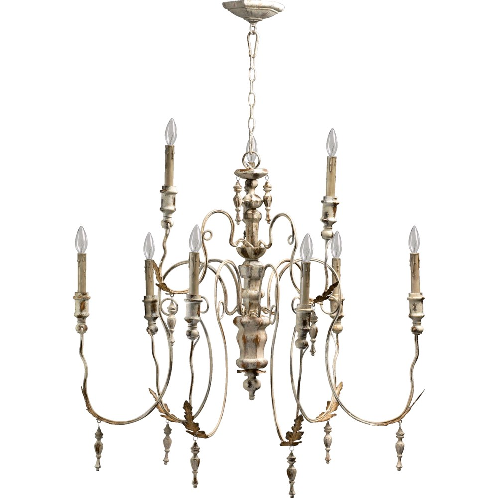 Salento 9 Light Persian White Traditional Chandelier