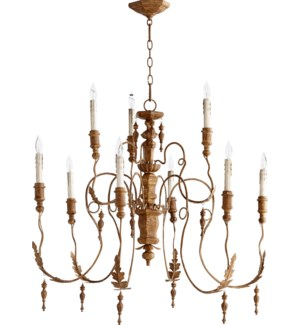 Salento 9 Light French Umber Transitional Chandelier