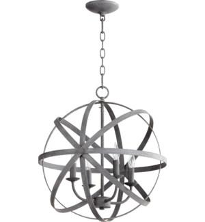 Celeste 4 Light Zinc Transitional Chandelier