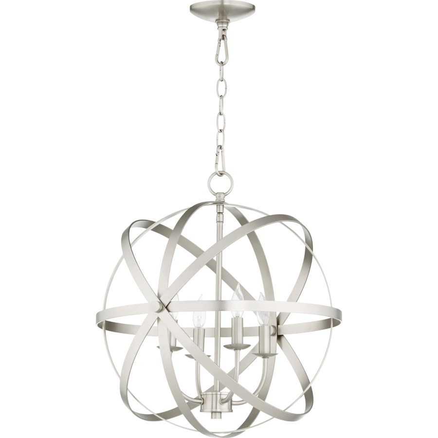 Celeste 4 Light Satin Nickel Transitional Chandelier