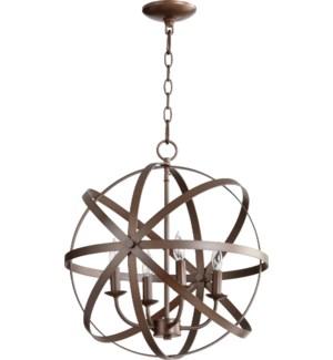 Celeste 4 Light Oiled Bronze Transitional Chandelier