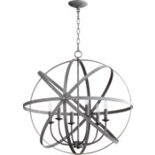Celeste 6 Light Zinc  Transitional Chandelier
