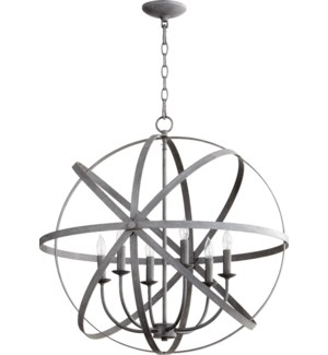 Celeste 6 Light Zinc  Transitional Chandelier