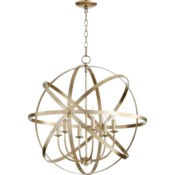 Celeste 6 Light Aged Silver Leaf Transitional Chandelier