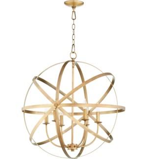 Celeste 6 Light Aged Brass Transitional Chandelier