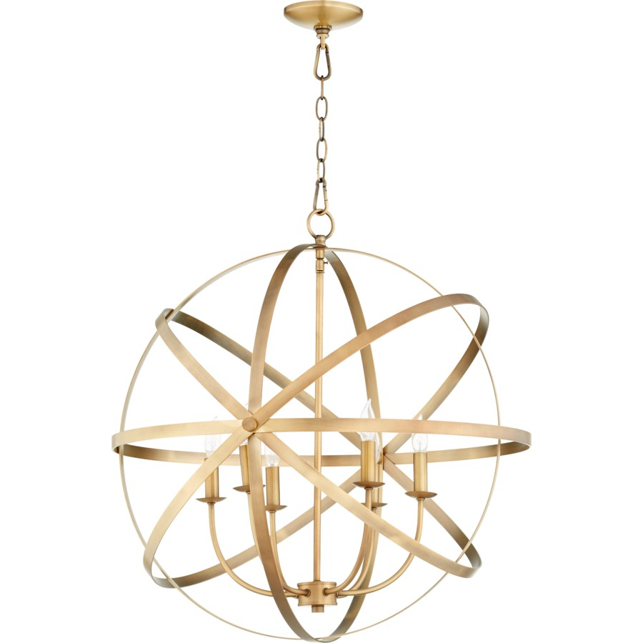 Celeste 6 Light Aged Brass Transitional Chandelier