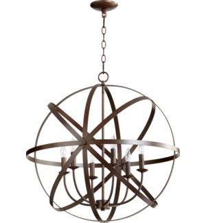 Celeste 6 Light Oiled Bronze Transitional Chandelier