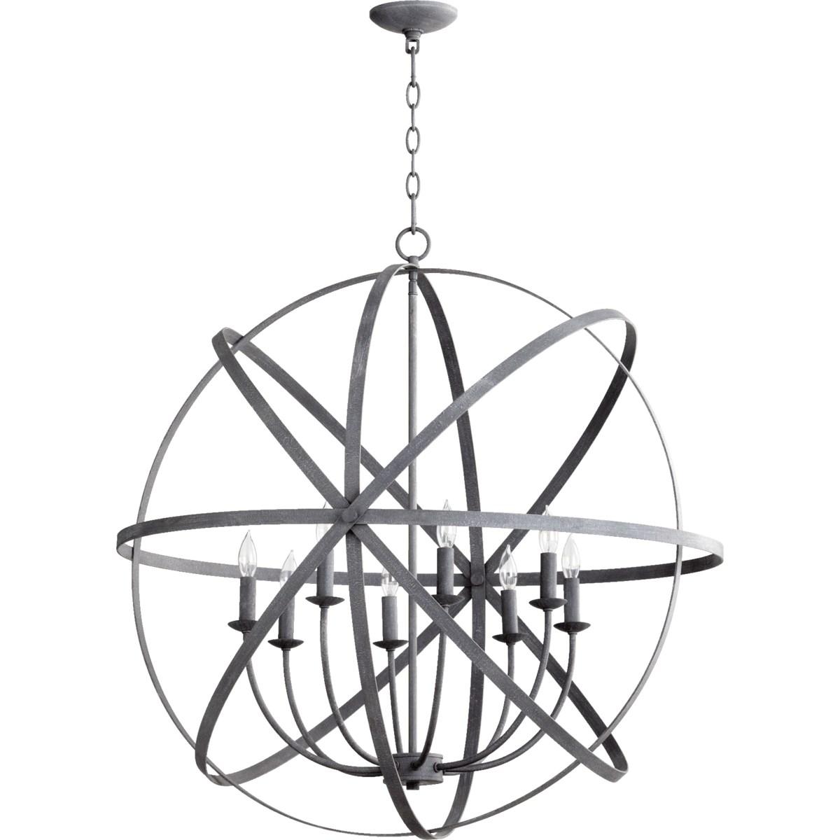 Celeste 8 Light Zinc Transitional Chandelier