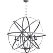 Celeste 8 Light Zinc Transitional Chandelier