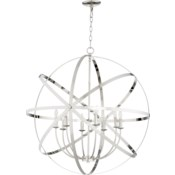 Celeste 8 Light Polished Nickel Transitional Chandelier