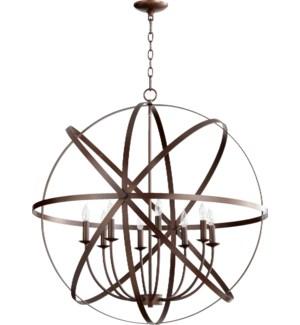 Celeste 8 Light Oiled Bronze Transitional Chandelier