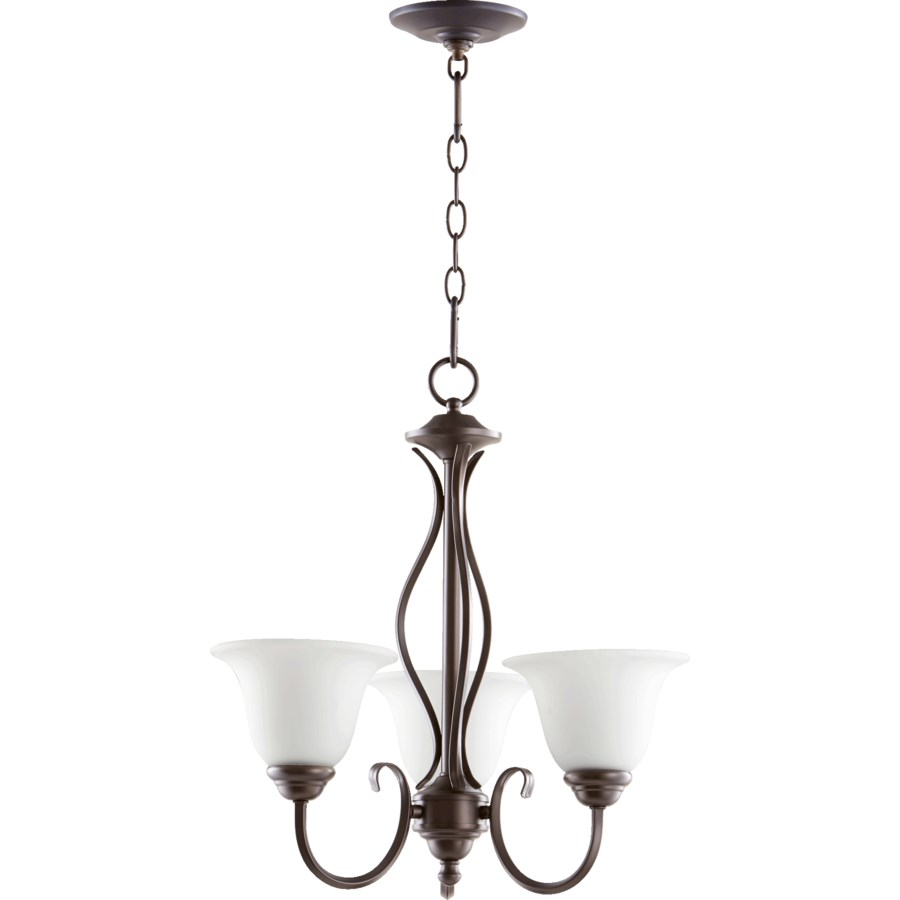 Spencer 3 Light  Oiled Bronze Transitional Chandelier