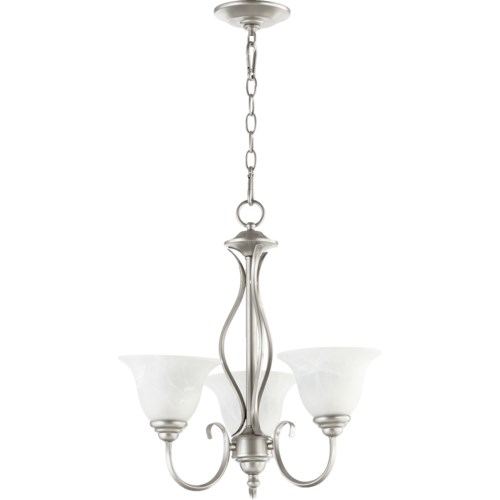 Spencer 3 Light  Classic Nickel Transitional Chandelier