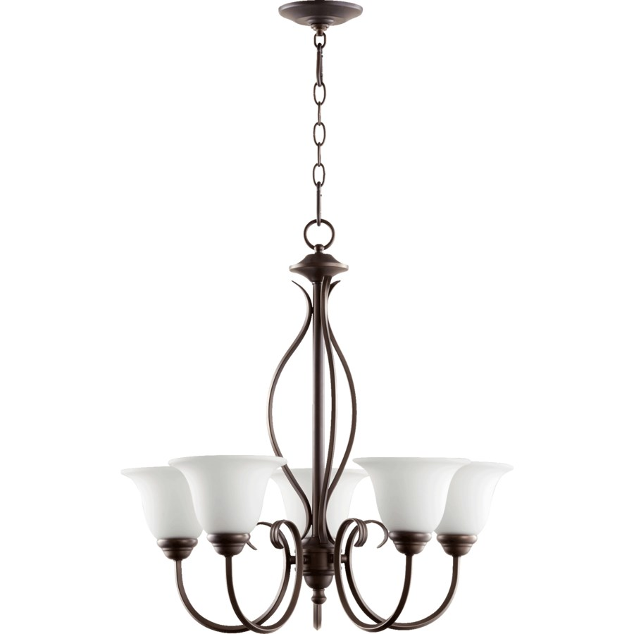 Spencer 5 Light Oiled Bronze Transitional Chandelier