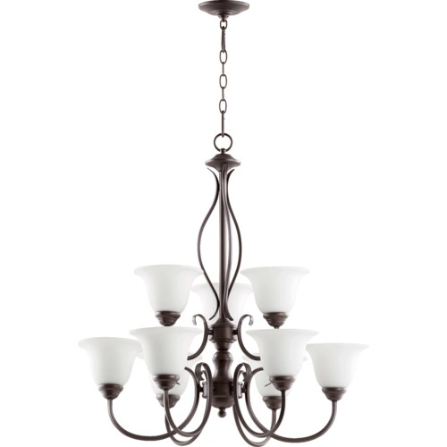 Spencer 9 Light Oiled Bronze Traditional Chandelier