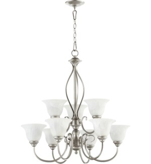 Spencer 9 Light Classic Nickel Transitional Chandelier