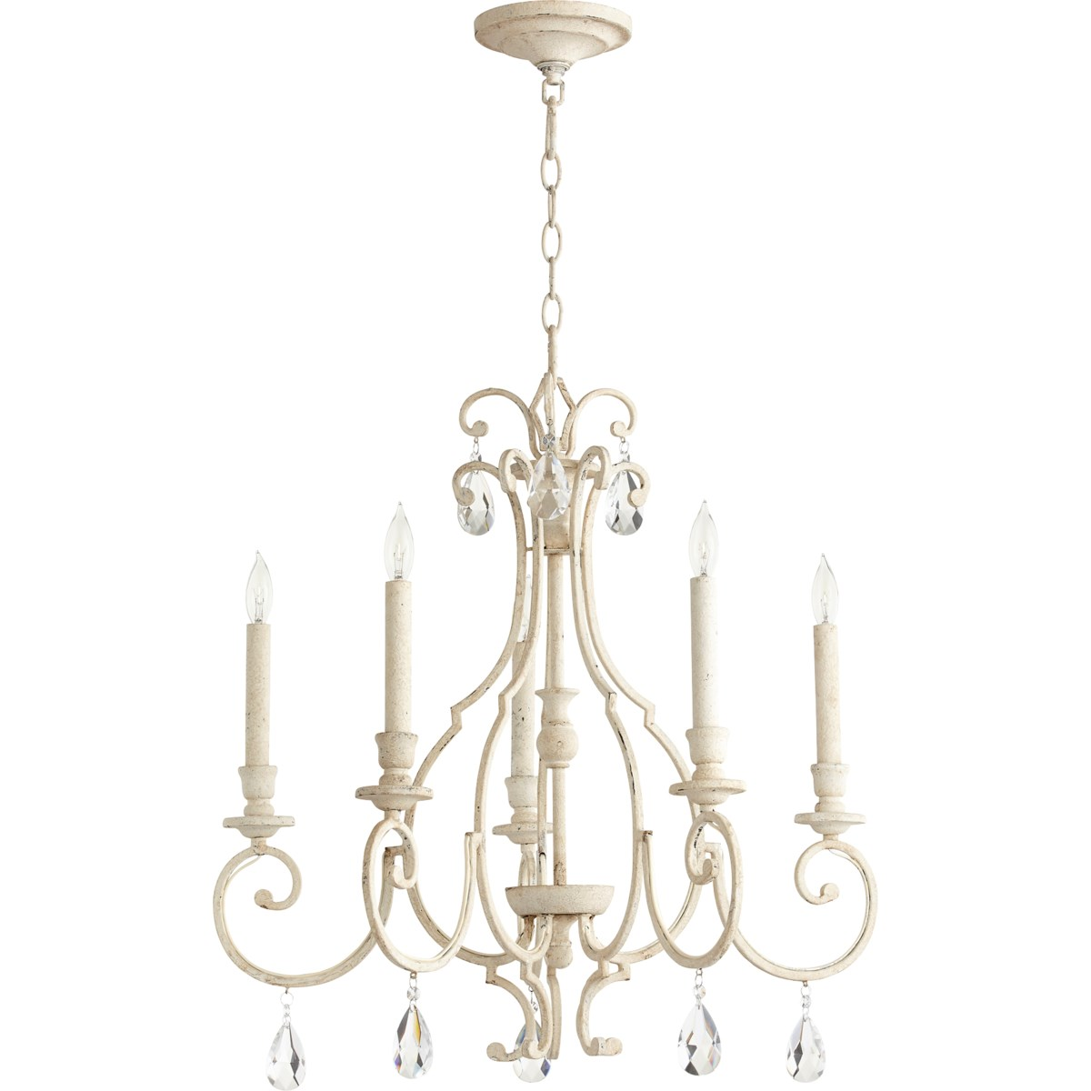 Ansley 5 Light Persian White Traditional Chandelier