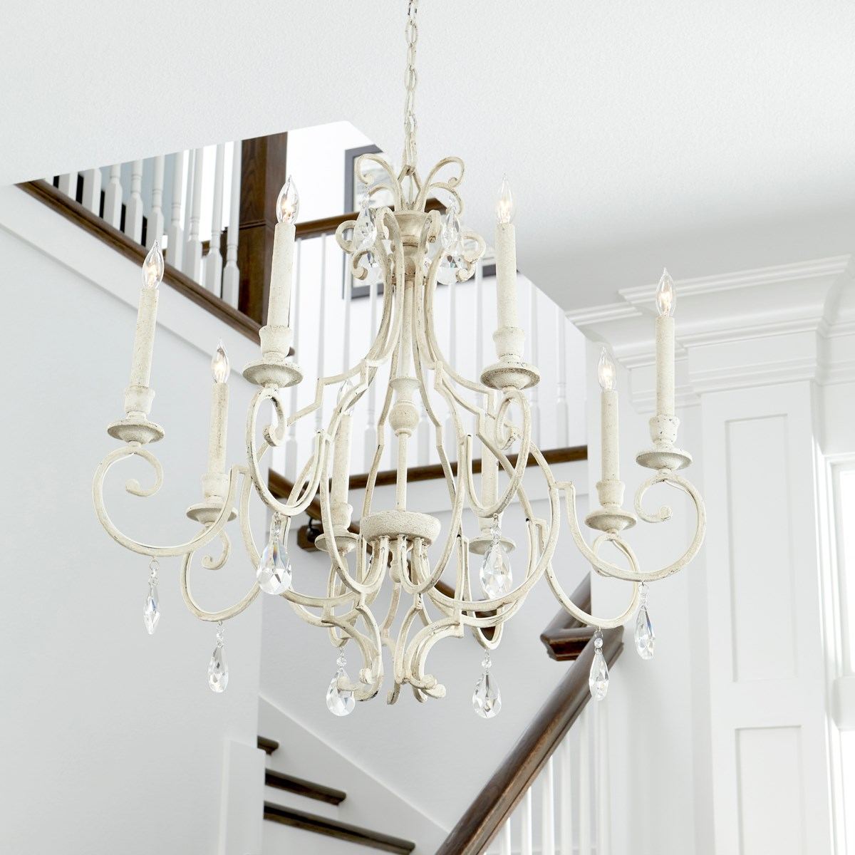 Ansley 8 Light Aged Silver Leaf Traditional Chandelier