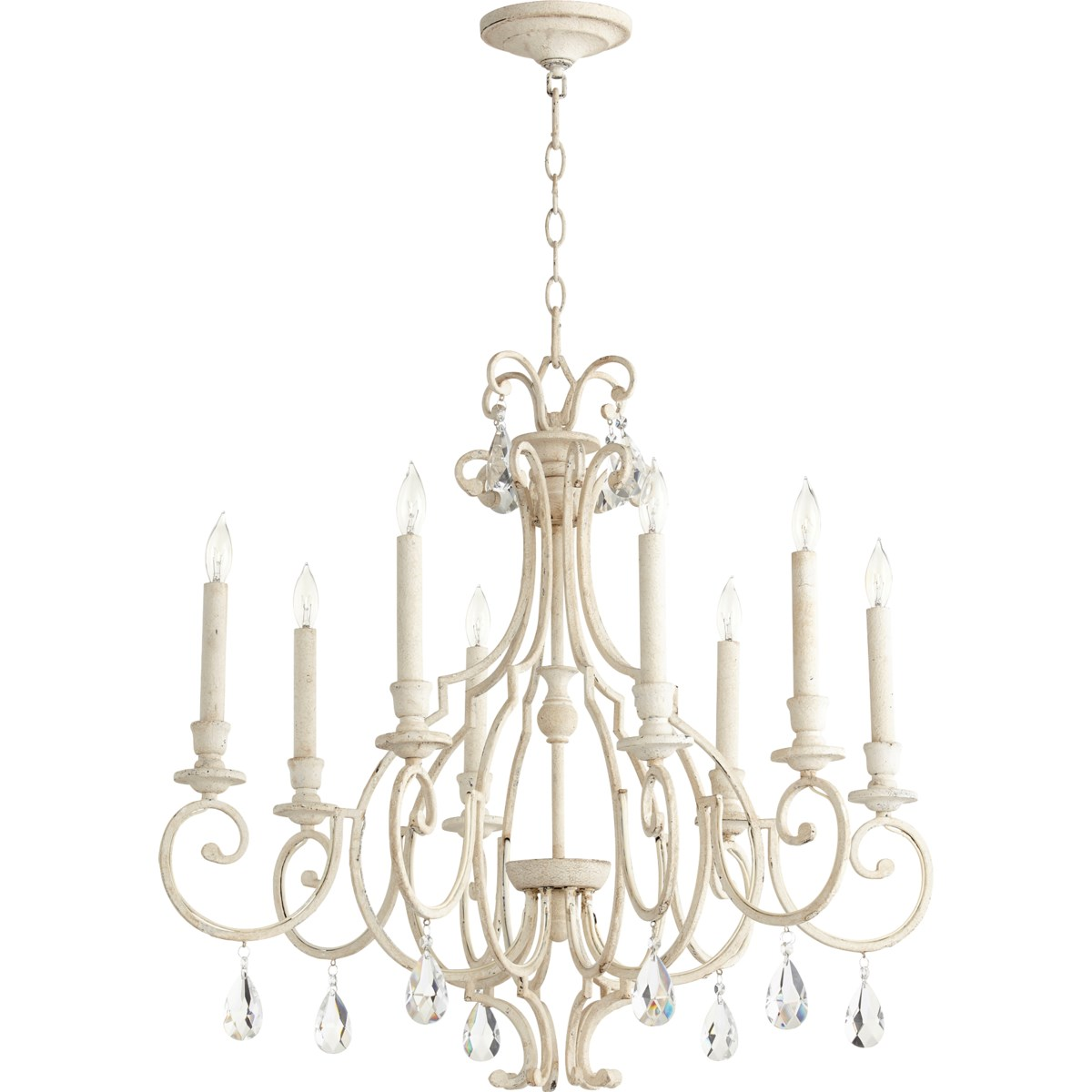 Ansley 8 Light Persian White Traditional Chandelier