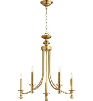 Rossington 5 Light Aged Brass Transitional Chandelier