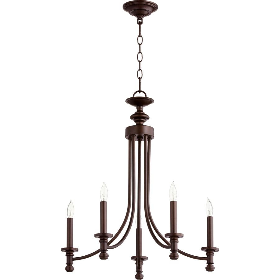 Rossington 5 Light Oiled Bronze Transitional Chandelier