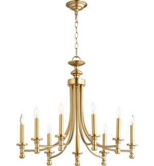 Rossington 9 Light Aged Brass Transitional Chandelier