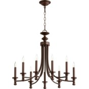 Rossington 9 Light Oiled Bronze  Transitional Chandelier