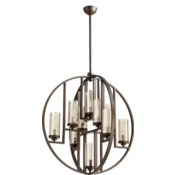 Julian 10 Light  Oiled Bronze  Transitional Chandelier