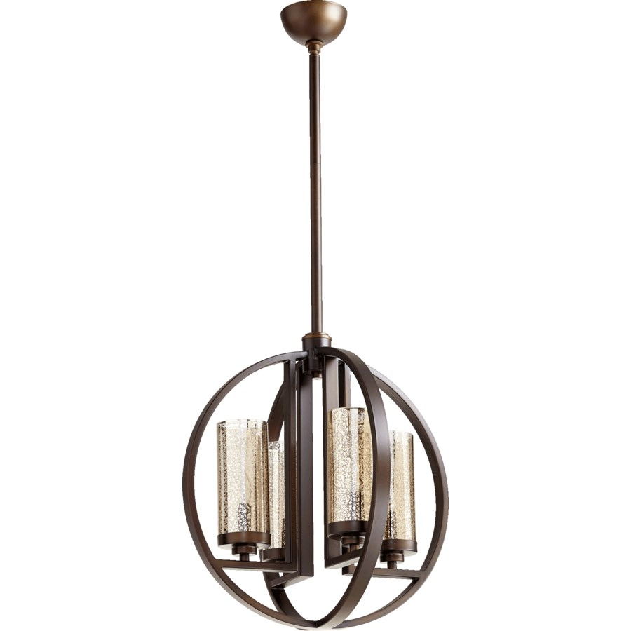 Julian 4 Light  Oiled Bronze  Transitional Chandelier