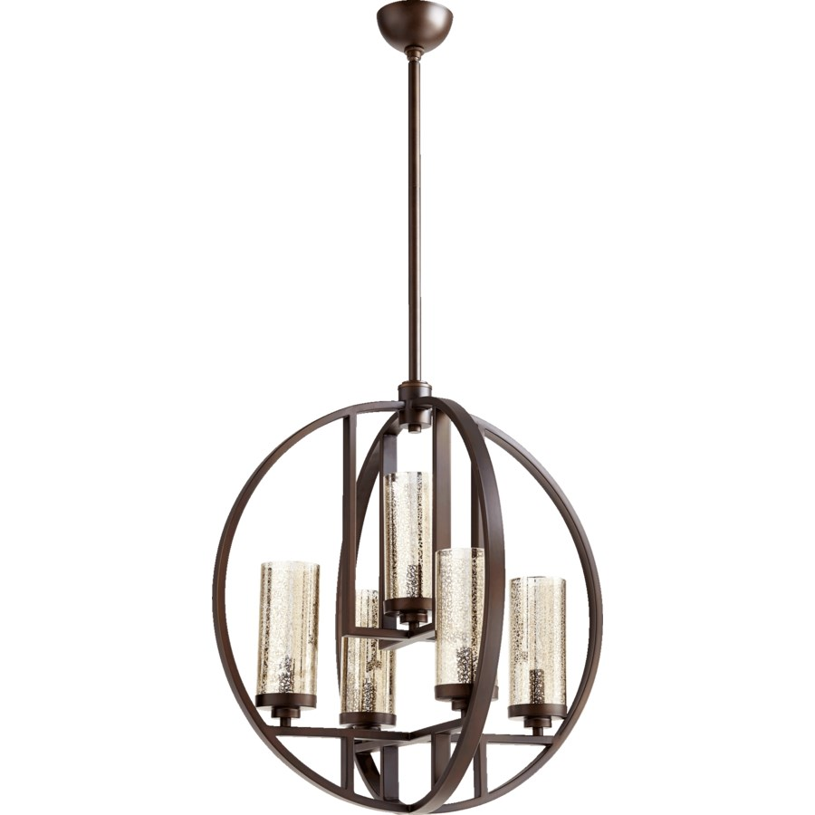 Julian 5 Light Oiled Bronze  Transitional Chandelier