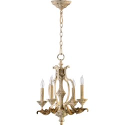 Florence 4 Light  Persian White  Traditional Chandelier