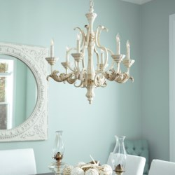 Florence 6 Light Persian White  Traditional Chandelier