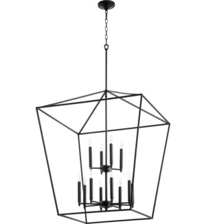 Gabriel 12 Light Black Pendant