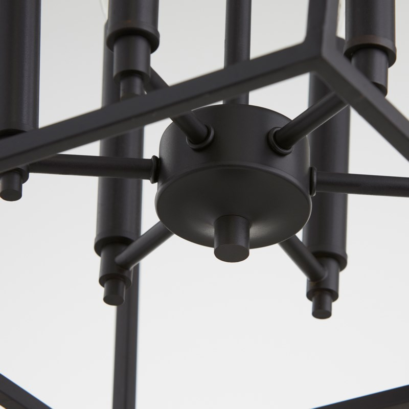 Gabriel 6 Light Black Pendant