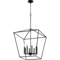 Gabriel 8 Light Black Pendant