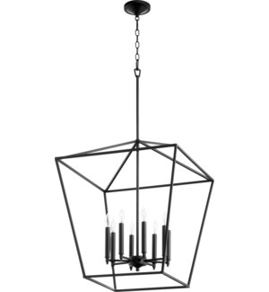 Gabriel 8 Light Black Pendant