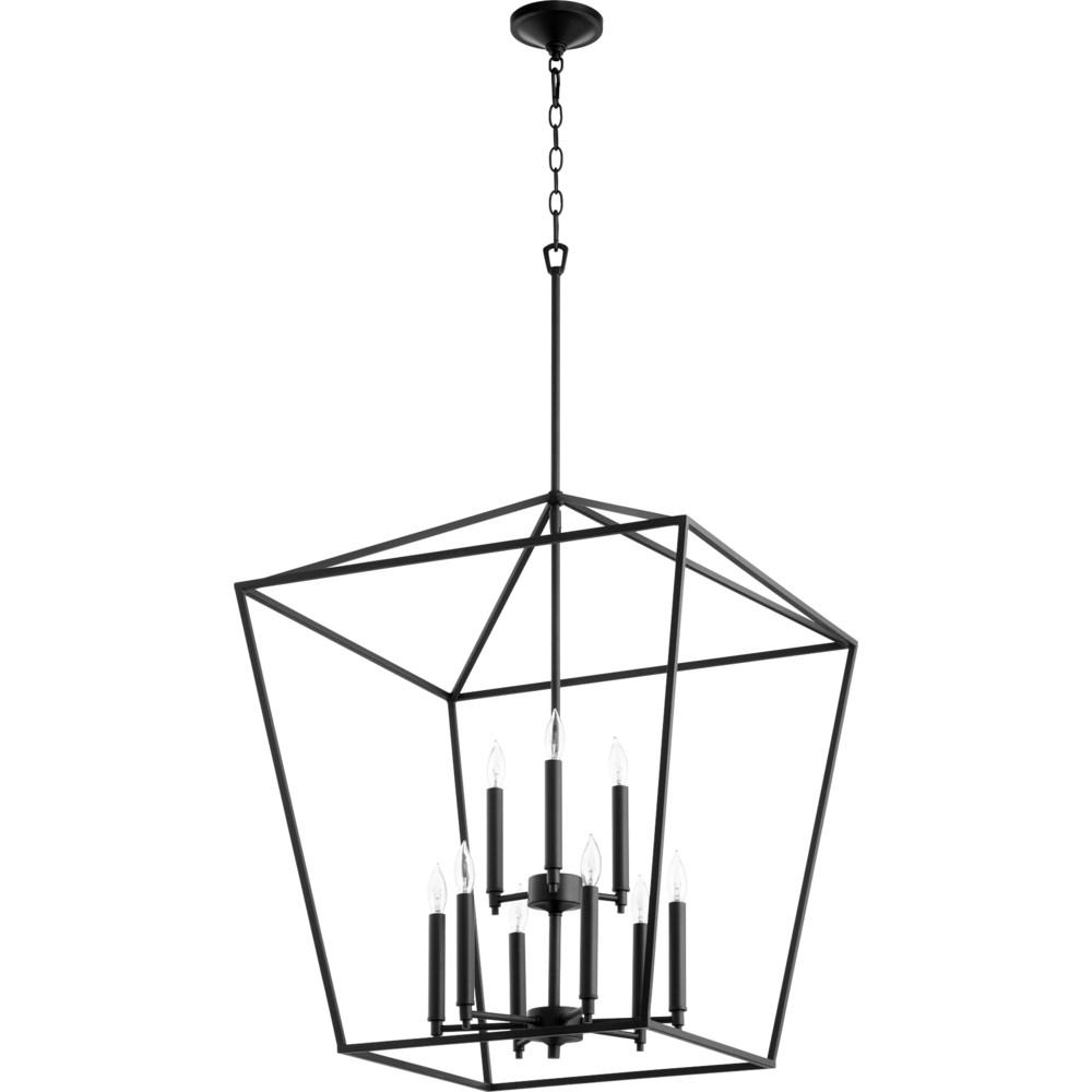 Gabriel 9 Light Black  Pendant