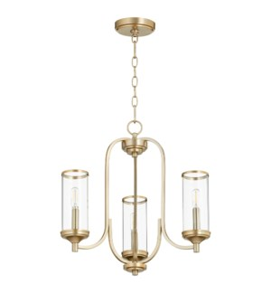 Collins 3 Light  Aged Brass Transitional Chandelier