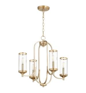 Collins 4 Light  Aged Brass Transitional Chandelier