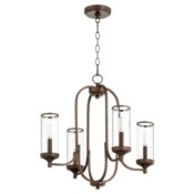 Collins 4 Light  Oiled Bronze  Transitional Chandelier