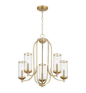 Collins 5 Light Aged Brass Transitional Chandelier