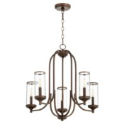 Collins 5 Light Oiled Bronze  Transitional Chandelier