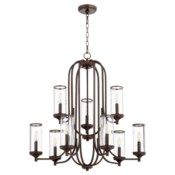 Collins 9 Light Oiled Bronze  Transitional Chandelier