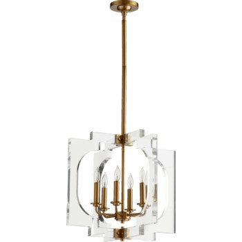 Broadway Aged Brass Modern and Contemporary Pendant