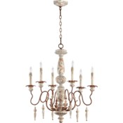 La Maison 6 Light Manchester Grey Traditional Chandelier
