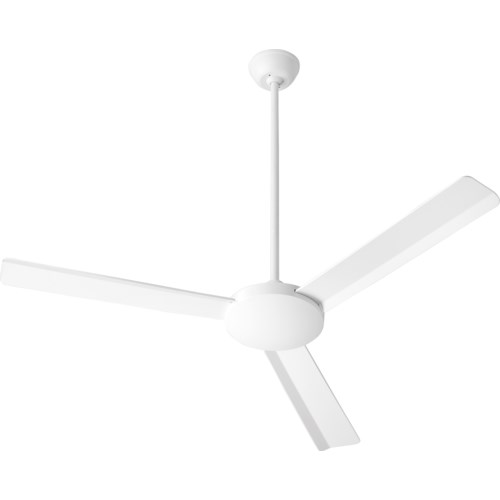 Aerovon 52-in 3 Blade Studio White Soft Contemporary Ceiling Fan