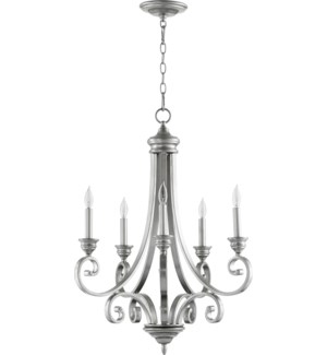 Bryant 5 Light Classic Nickel  Traditional Chandelier